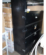 5 DRAWER 42 INCH LATERAL OFFICE FILE CABINET USED BLACK - $267.30