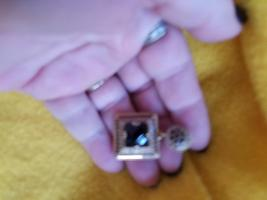 Paranormal Powers Of The Wish Granting Bahai Djinn Black Onyx Whit Topaz Pendent - $169.00