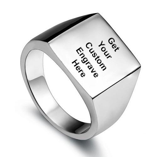 Acero inoxidable pulido cl sico mens sello del motorista anillo de la venda color plata con