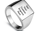 Xidable pulido cl sico mens sello del motorista anillo de la venda color plata con thumb155 crop