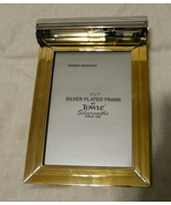 Towle Silversmith silver plate gold tone electric lighted picture frame ... - $40.00