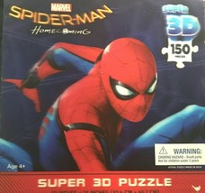 """MARVEL SPIDER-MAN HOMECOMING SUPER 3D PUZZLE 150 PIECES  12""""x 18"""" - $18.50"""