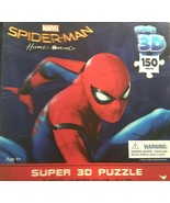 "MARVEL SPIDER-MAN HOMECOMING SUPER 3D PUZZLE 150 PIECES  12""x 18"" - $18.50"