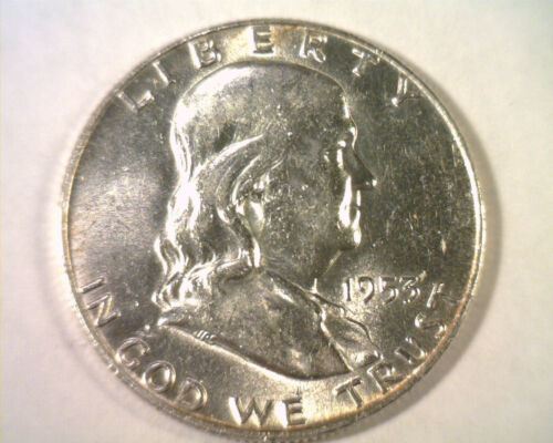 Primary image for 1953-D D/D NOT LISTED FRANKLIN HALF DOLLAR CHOICE ABOUT UNCIRCULATED CH. AU NICE