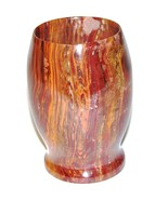 Bathroom Tumbler in Luxurious Imported Multi Color Onyx of Pacific Colle... - $13.98