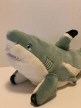 "Wild Republic Great White Shark Plush Stuffed Ocean Animal Gray 16"" Long - $13.86"