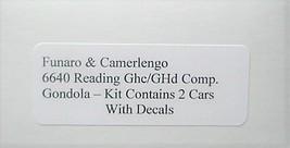 Funaro HO READING  40' GhC/GHd Composite Gondolas, TWO cars per kit 6640 image 3