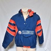 VTG Illinois Fighting Illini Starter Jacket Parka Coat NCAA Pullover 90s... - $99.99