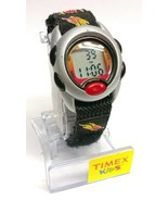 Kid's Timex Time Machines Black And Red Flames Digital Watch T78751 Boys IndiGLO - $22.99