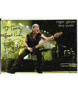 ROGER GLOVER DEEP PURPLE AUTOGRAPHED PHOTO CARD 5 X 8 INSCRIBED - $11.01
