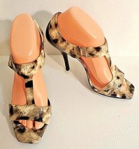 Jessica Simpson Women Size 8.5 Animal Print Open Toe Stiletto Shoes  EU 38.5 - $49.49