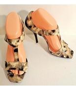 Jessica Simpson Women Size 8.5 Animal Print Open Toe Stiletto Shoes  EU ... - $49.49