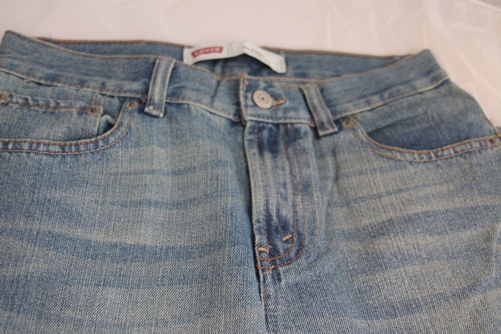 3fd4c69af15 Levi's Boys 505 Blue Straight Leg Jeans Size 14 Reg 27