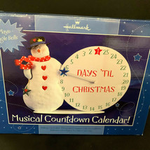 Hallmark Musical Countdown Calendar Plays Jingle Bells Advent Calandar - $37.62