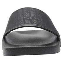 Hugo Boss Men's Slip On Graphic Solar Logo 2 Slider Sandals 50401863 Black image 6