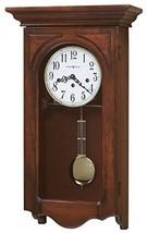 Howard Miller Jennelle Wooden Wall Clock Brass Pendulum Windsor Cherry W... - $1,112.51