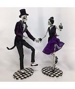 Katherine's Collection 2020 Skeleton Dancing Couple Figurine, Set of 2 - $199.99
