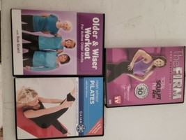 Various Excersize/workout Dvd Lot Of 3 Senior,pilate, The Firm - $17.82