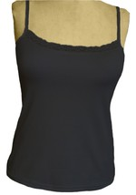 Alessandra B Lace Trim Classic Camisole with Underwire Bra (38B, Black) - $29.99