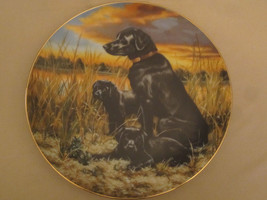 LABRADOR RETRIEVERS collector plate ROBERT CHRISTIE Sporting Dogs HUNTIN... - $39.20