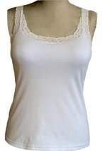 Alessandra B Lace Trim Sport Tank Top With Underwire Bra (34DD, White) - $34.99