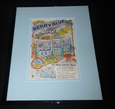 1988 Kool Aid Berry Blue Framed 11x14 ORIGINAL Vintage Advertisement - $32.36