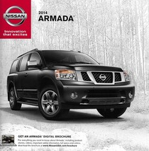 2014 Nissan ARMADA sales brochure catalog sheet US 14 SV SL Platinum - $6.00