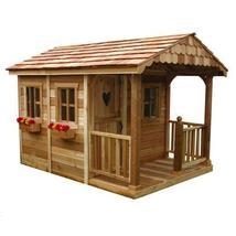 Children Playhouse Tree Cedar Kid Outdoor Garden Backyard Cottage Fort L... - $3,849.99