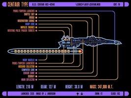 Vinteja charts of - LCARS UFP Centaur Class Starship - A3 Poster Print - $22.99
