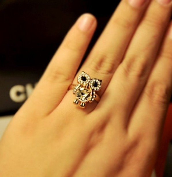 Primary image for Shining Owl Shape Alloy Cocktail Ring