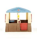 Children Playhouse Plastic Kids Outdoor Garden Backyard Cottage Fort Log... - $289.99