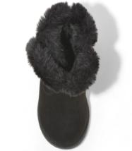 Cat & Jack Girls' Katrina Toddler Faux Fur Shearling Tall Black Winter Boots NWT image 3