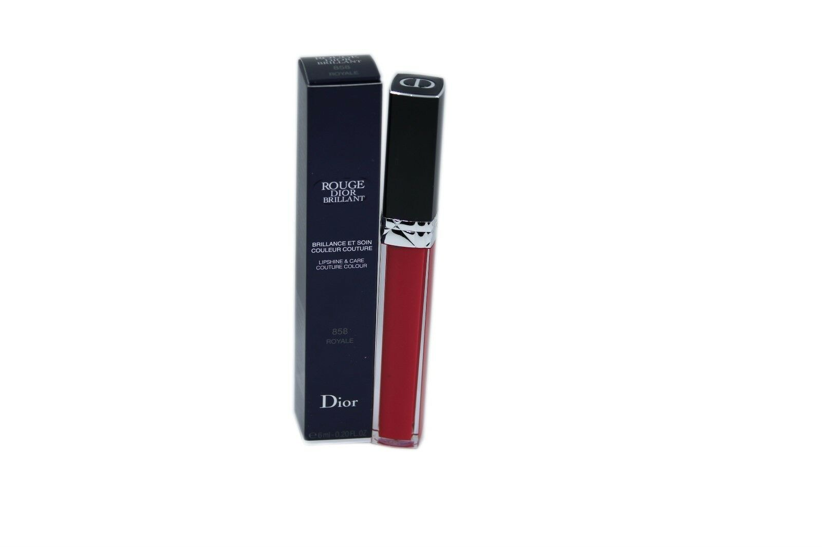 Primary image for ROUGE DIOR BRILLANT LIPSHINE & CARE COUTURE COLOUR 6ML 858 ROYALE NIB-F077325858