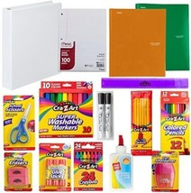 Back To School Supply Kit: Crayons, Markers, Pencils, Sharpener, Scisso... - $61.22