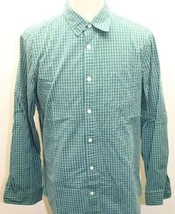 Classic Gap Checkered Blue Green Long Sleeve Shirt Large 100% Cotton - $23.36