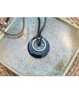 Cookie Lee Good Luck Onyx Lifesaver Necklace - Item #51417 - New! - $12.00