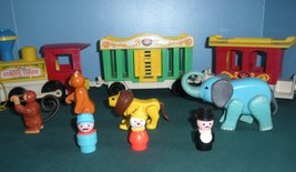 Vintage Fisher Price Play Family #991 3 Car Circus Train COMP/VG++--EXC! (P) image 2