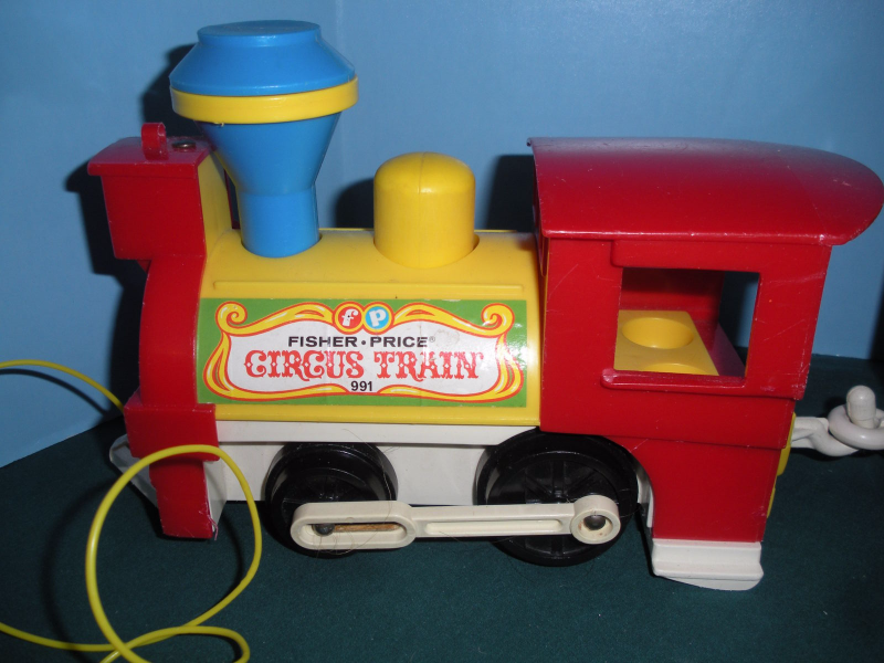 Vintage Fisher Price Play Family #991 3 Car Circus Train COMP/VG++--EXC! (P) image 3