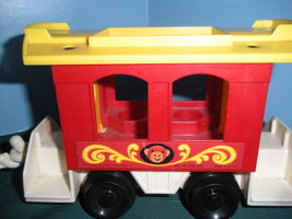 Vintage Fisher Price Play Family #991 3 Car Circus Train COMP/VG++--EXC! (P) image 5