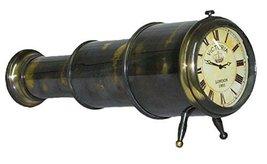 Nautical Dcor Gift Genuine Brass Telescope Desktop Clock - $64.30