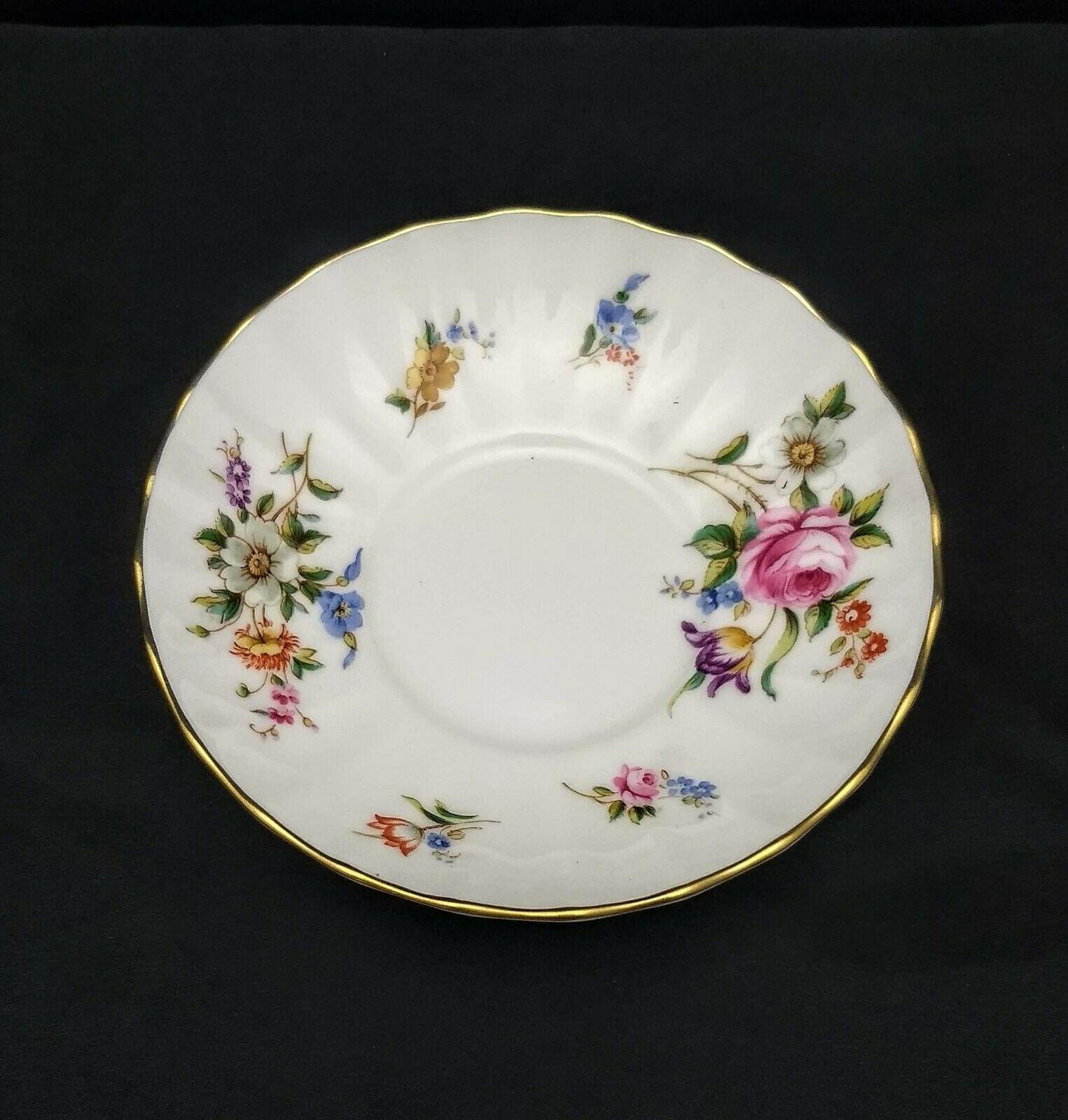 Royal Worcester Fine Bone China Roanoke Pattern Demitasse Cup & Saucer