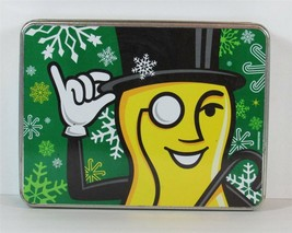 MR PEANUT Tin Box Canister Container with Snow Flakes - $14.99