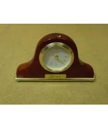 Danbury Fancy Table Clock 8in L x 4 3/4in H x 1 1/2in D Browns/Golds Woo... - $21.31