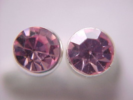 1.00ct pink cubic zirconia earrings - $1.99