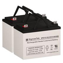 CTM HS-2800 Replacement Battery Set By SigmasTek - 12V 32AH NB GEL - $158.38