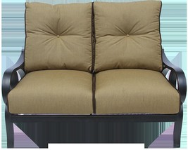 OUTDOOR PATIO LOVESEAT WITH CUSHION - ANTIQUE BRONZE - $1,275.12