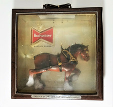 "Budweiser Clydesdale Horse Back Bar Light Up Wall Sign 13-3/8"" x 13-3/8"" - $57.50"