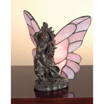 Drifting Fairy Accent Lamp Table Light Lighting Stained Glass Unique Bed... - $209.25