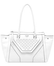 Nwt GUESS Tough Luv Tawny Satchel Handbag Shoulder Bag Tote PY452309 ~White - $99.99