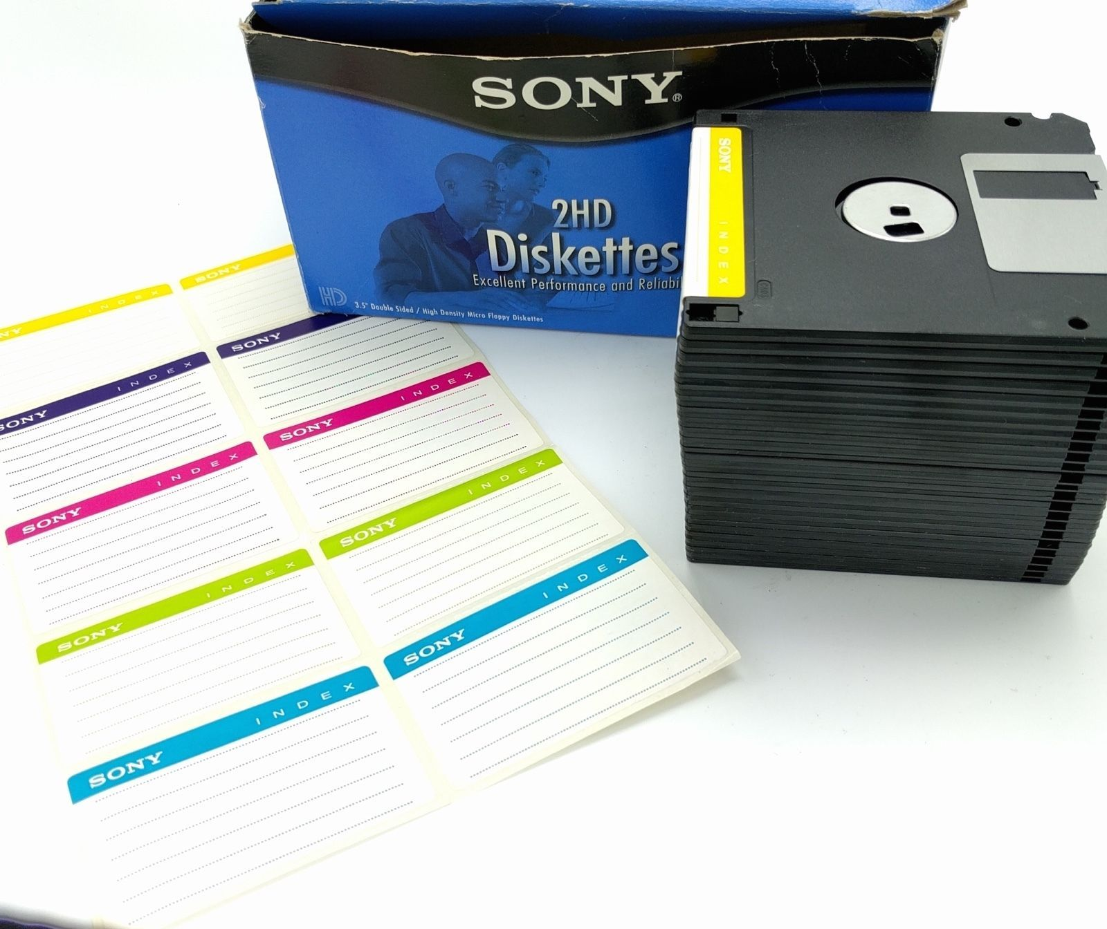 24 Sony Micro FLOPPY DISKS Diskettes 3.5in IBM Formatted 1.44MB 25MFD-2HD - $19.79